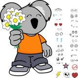 Милые установленные выражения коалы маленького ребенка Стоковая Фотография