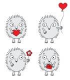 милые установленные hedgehogs Стоковая Фотография