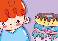 Милые шаржи мальчика бесплатная иллюстрация