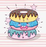 Милые шаржи kawaii бесплатная иллюстрация