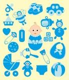 Милые элементы младенца. Стоковая Фотография RF