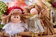 Милые figurines ангела Стоковые Фото