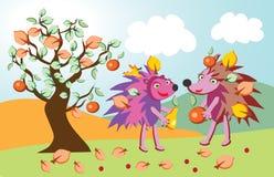 милые hedgehogs иллюстрация штока