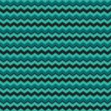 Милый безшовный шеврон предпосылки stripes белизна teal черная Стоковая Фотография RF