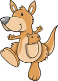 милый вектор кенгуруа иллюстрация штока