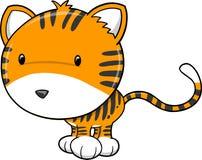 милый вектор тигра сафари иллюстрация штока