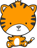 милый вектор тигра бесплатная иллюстрация