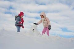 Милый гриль 2 в снеге Стоковые Фотографии RF