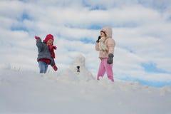 Милый гриль 2 в снеге Стоковое Фото