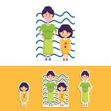 Милый дизайн вектора стиля матери и дочери плоский бесплатная иллюстрация