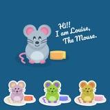 Милый дизайн вектора характера мыши иллюстрация штока