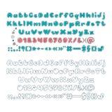 Милый дисплей алфавита Письма, номера и пунктуация Стоковое фото RF