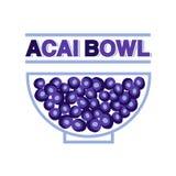 Милый знак магазина шара Acai бесплатная иллюстрация