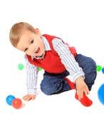 Милый играть мальчика Стоковые Изображения RF