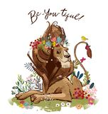 Милый король льва шаржа бесплатная иллюстрация