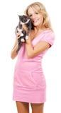 милый котенок девушки стоковое фото