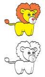 Милый лев шаржа Стоковое Изображение RF