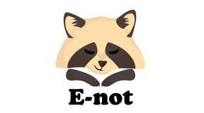 Милый логотип енота бесплатная иллюстрация