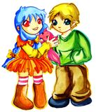 милый любимчик manga малышей Стоковые Фотографии RF