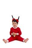Милый малыш в costume santa Стоковая Фотография RF