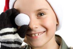 милый малыш santa шлема стоковая фотография