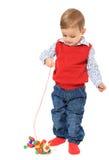 Милый мальчик играя с игрушками Стоковая Фотография RF