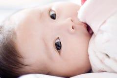 Милый младенец Азии стоковое фото rf