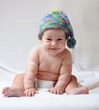 Милый младенец в крышке Стоковое Изображение