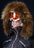 милый носить sportswoman маски Стоковое Изображение