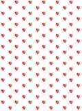 Милый осветите - розовую картину вектора сердец Красные простые сердца на белом бесплатная иллюстрация