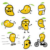 Милый персонаж из мультфильма 01 вектора манго стоковое изображение rf