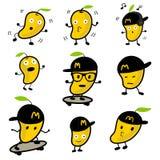 Милый персонаж из мультфильма 02 вектора манго стоковое изображение