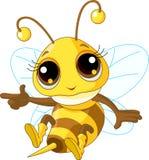 Милый показ пчелы иллюстрация штока
