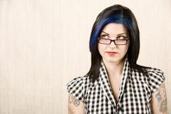 милый портрет девушки rockabilly Стоковые Фотографии RF