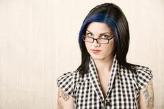 милый портрет девушки rockabilly Стоковое Фото