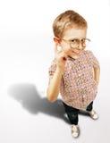Милый портрет мальчика curios Стоковые Фото