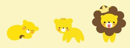 милый растущий львев Стоковые Фотографии RF