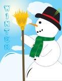 милый смотря снеговик Стоковые Фото