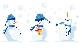милый снеговик бесплатная иллюстрация