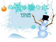 милый снеговик Стоковая Фотография RF
