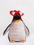 милый сформированный красный цвет пингвина сердца стекел Стоковое фото RF
