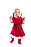 Милый сь ребёнок Santa Claus Стоковое фото RF