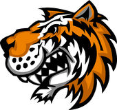 милый тигр талисмана логоса иллюстрация вектора