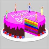 Милый торт радуги бесплатная иллюстрация