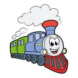 Милый усмехаясь поезд стоковое фото