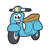 Милый усмехаясь скутер стоковые изображения