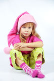 милый хелпер маленький santa Стоковое фото RF
