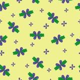 Милый цветочный узор с красивым голубым цветком иллюстрация вектора