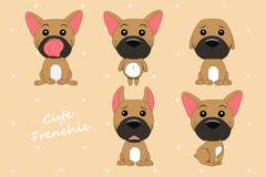 Милый цвет оленя французского бульдога собаки иллюстрация вектора