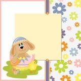 милый шаблон открытки пасхи Стоковые Изображения RF